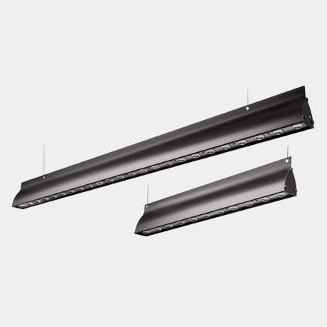 Terevo linear LED luminaire BLACK